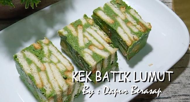 Resepi Lain Dari Lain, Jom Cuba Kek Batik Lumut Mudah & Sedap!