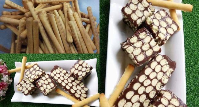 Cantik & Unik, Jom Cuba Resepi Kek Batik Versi Biskut Jejari!