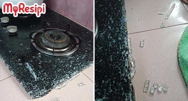 dapur kaca pecah