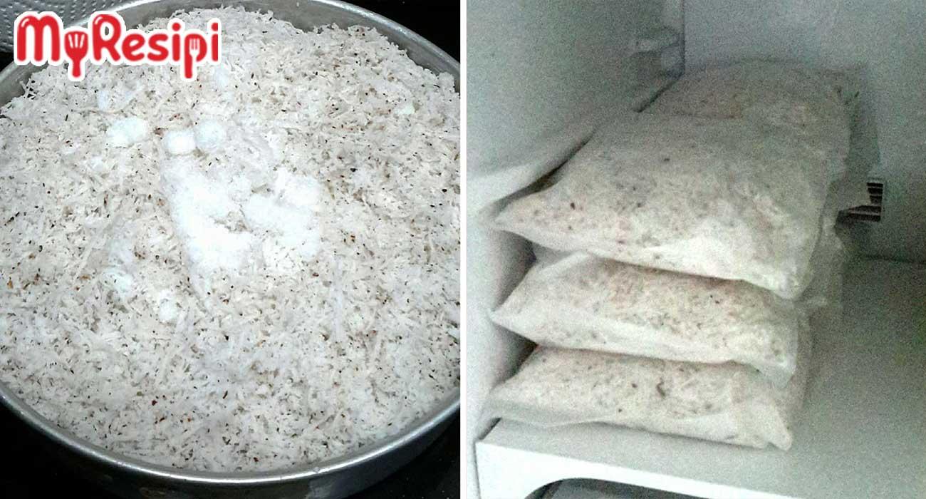 Kena Gaul Dengan Garam, Rahsia Simpan Kelapa Parut Agar Tahan Lama