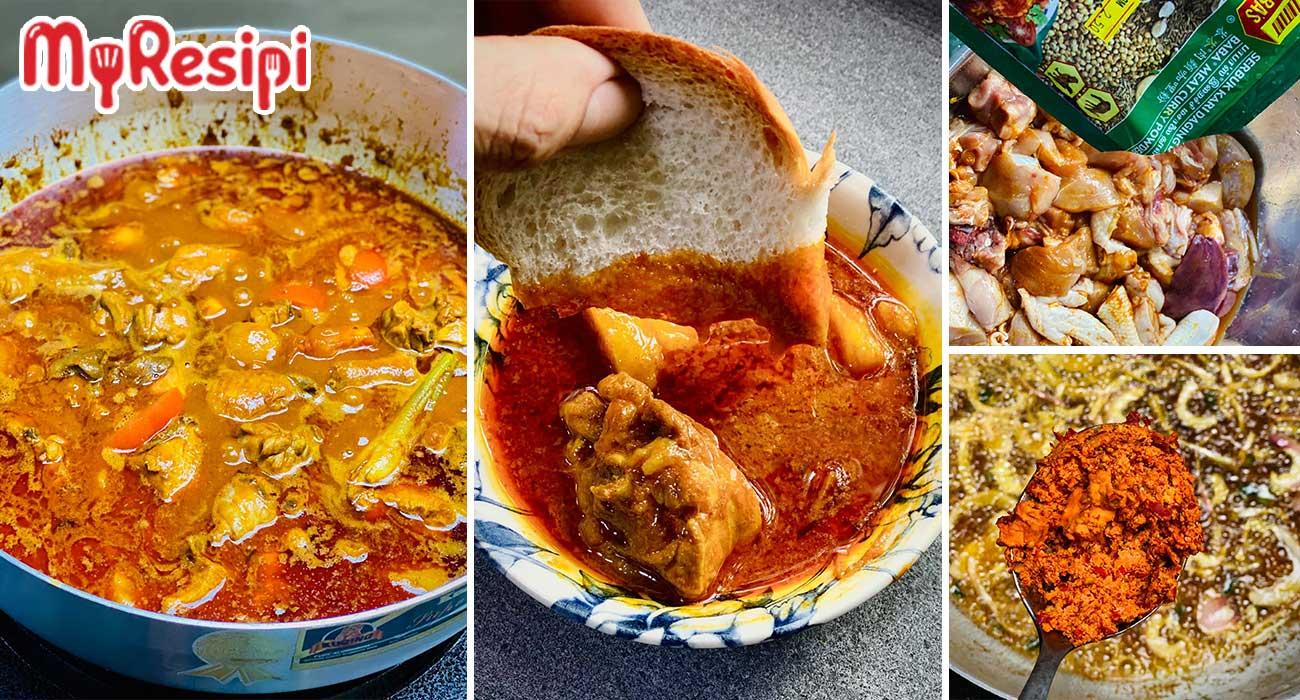 Rahsia Kari Ayam Pekat Likat, Ini 'Step By Step' Cara Membuatnya