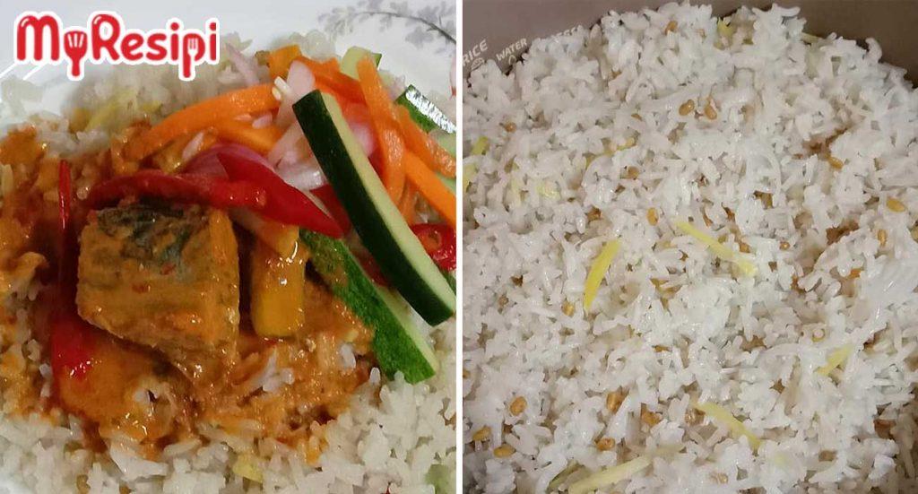 nasi dagang guna rice cooker
