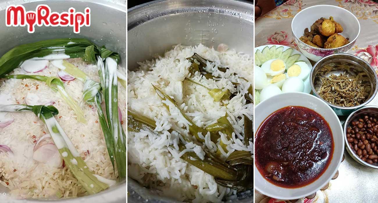 nasi lemak guna beras basmathi
