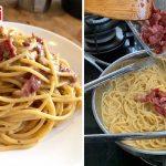 Resipi Spaghetti Carbonara Original Orang Itali, Tak Guna Sos Segera & Susu