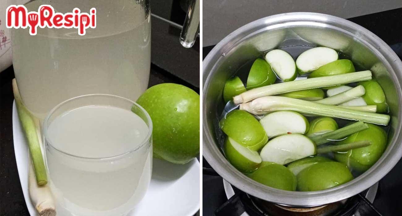 air rebusan epal hijau