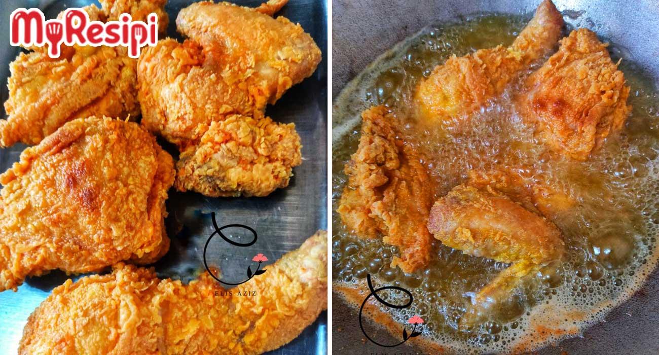 Resipi Ayam Goreng Guna Tepung Homemade Yang Rangup, Ini Cara Membuatnya!