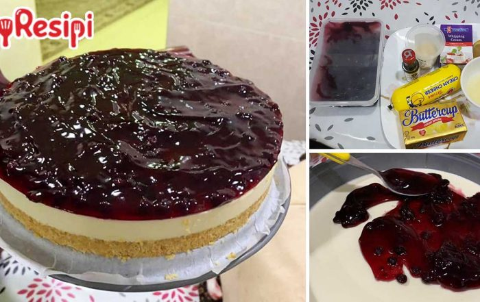 resipi blueberry cheese cake