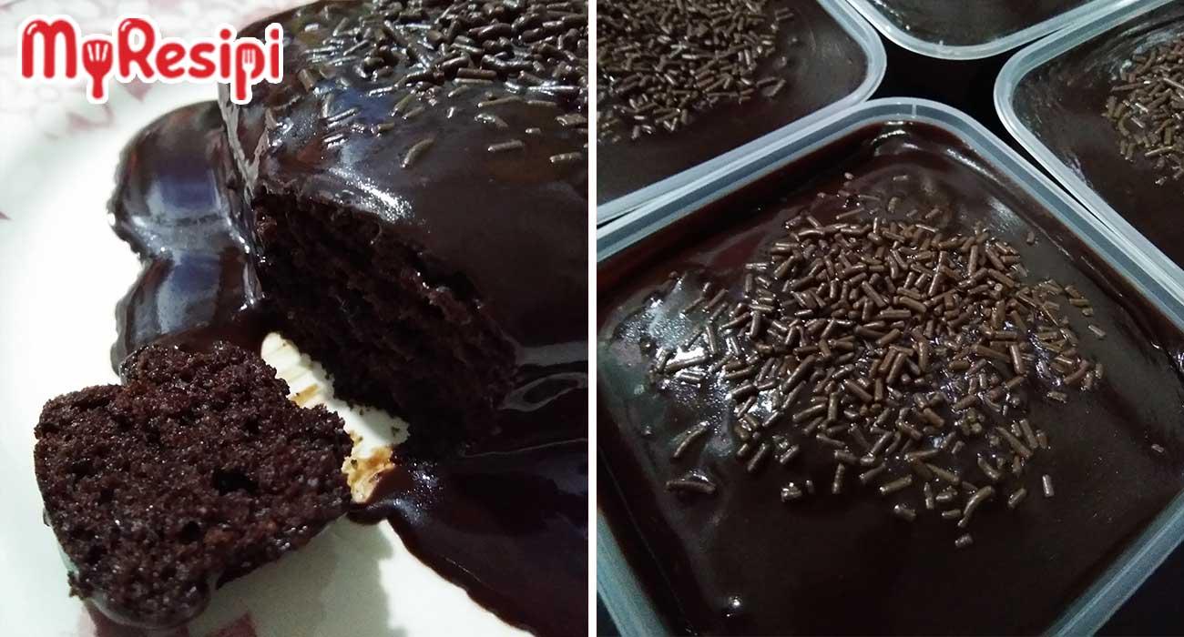 resipi kek coklat moist