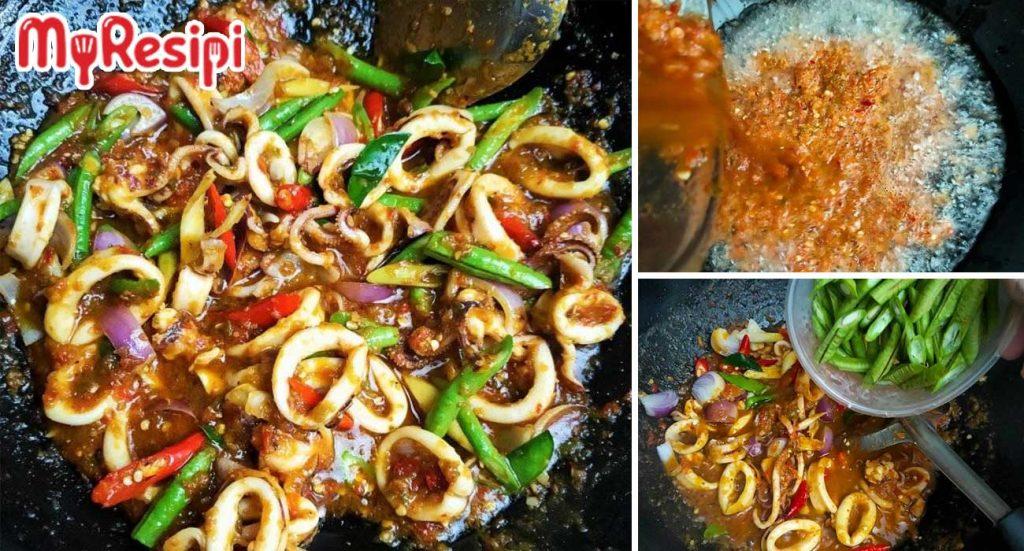 resipi sotong phat phet